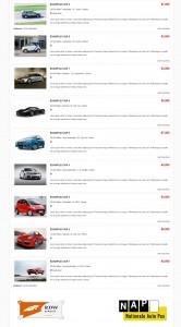 een foto van voorbeeld website autobedrijf