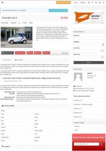 voorbeeld website autobedrijf