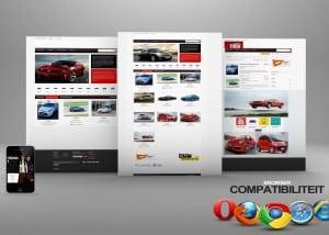 een voorbeeld website autobedrijf foto
