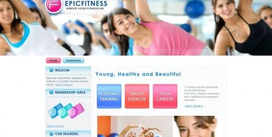 een website voor fitnessclub's