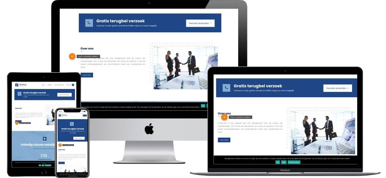 Financiële dienstverleners website laten maken