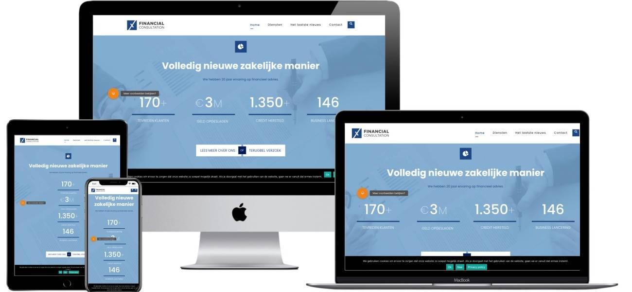 Een complete website voor financiele dienstenen