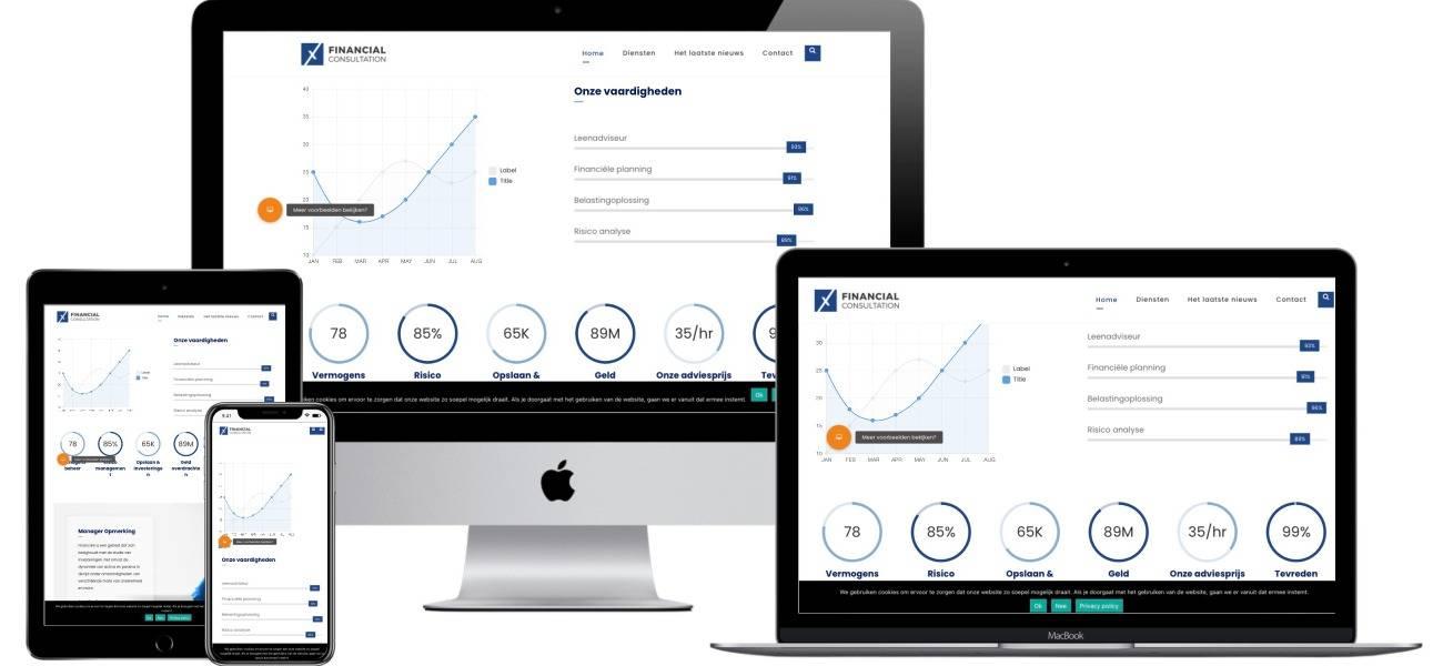 Een financiële site bouwen met Epicwebsite