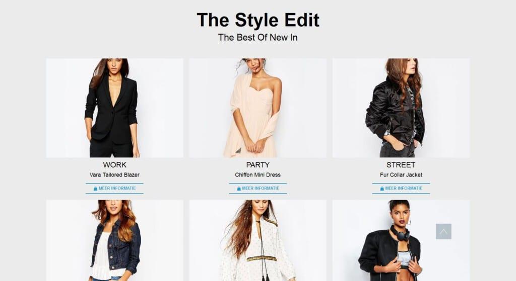 kledingshop beginen van epicwebsite