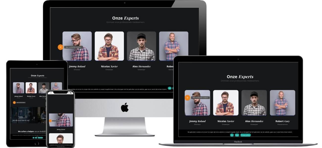 Een professionele website laten maken met ijzersterke basis