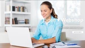 Een foto van eigen winkel beginnen webshop laten bouwen ppost