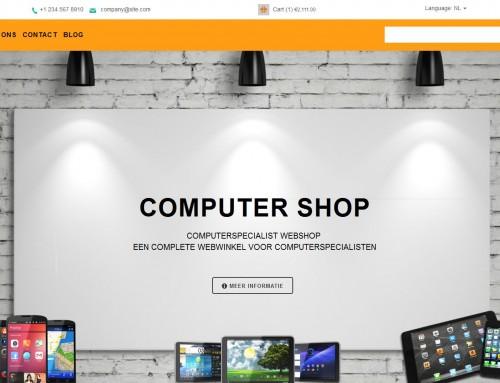 Computerwinkel shop laten maken