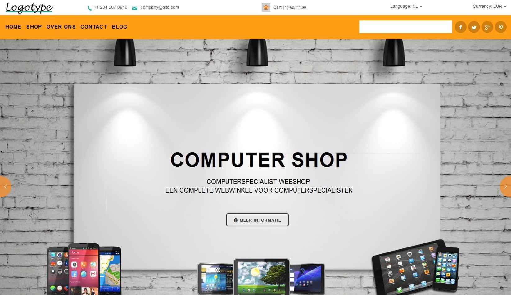 dit is een Computerwinkel shop laten maken foto
