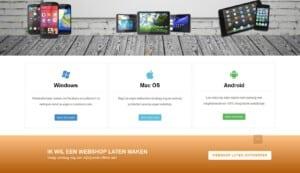 dit is een Webshop ontworpen voor computerwinkel foto