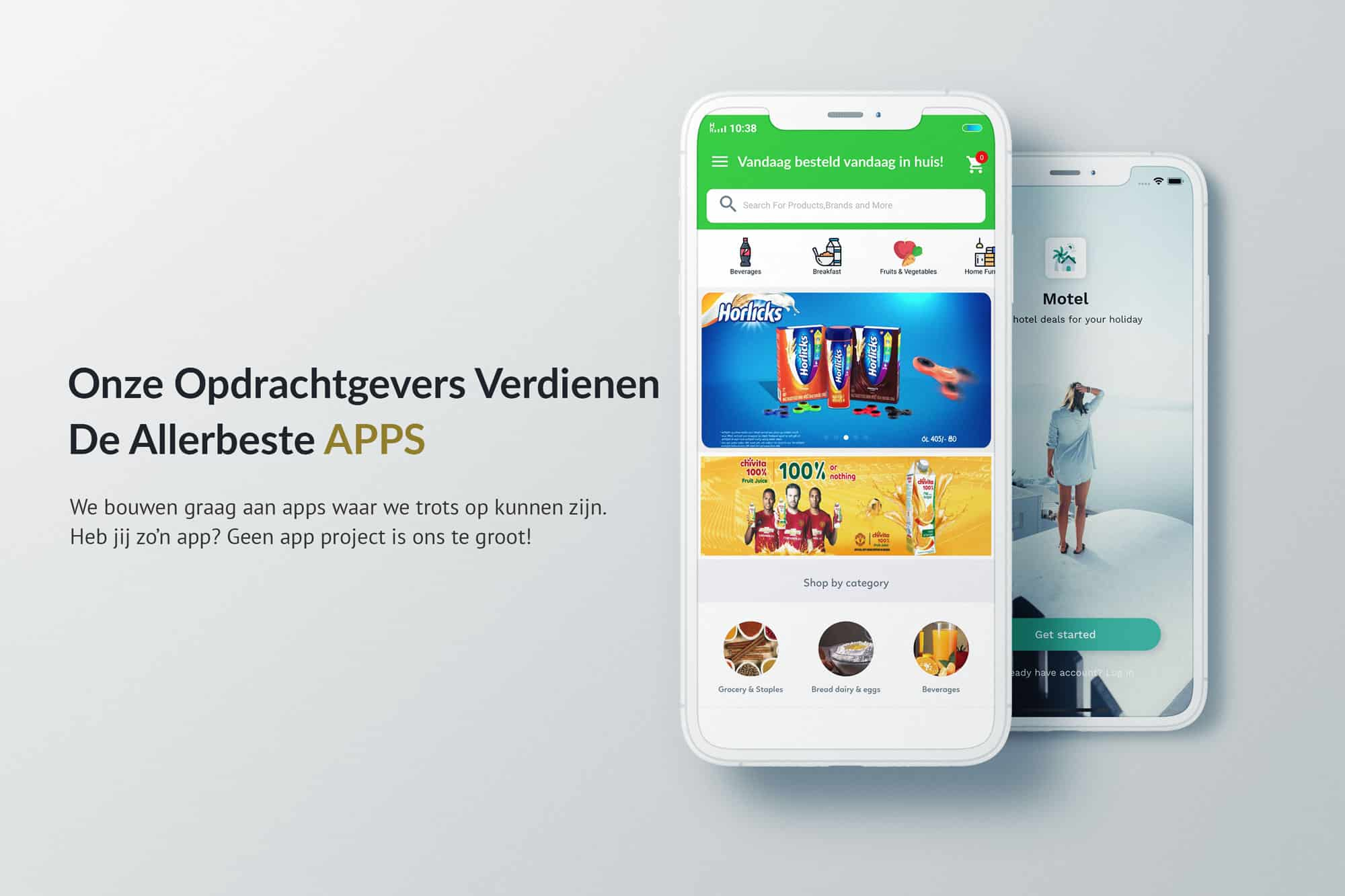 EpicWebsite Native app voorbeeld