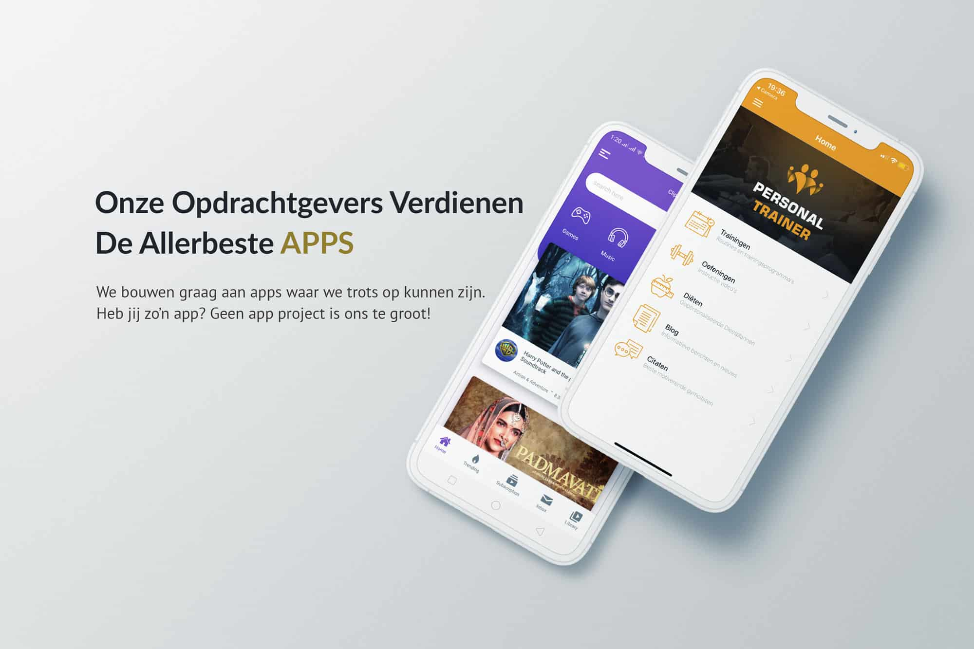 EpicWebsite REACT NATIVE voorbeeld