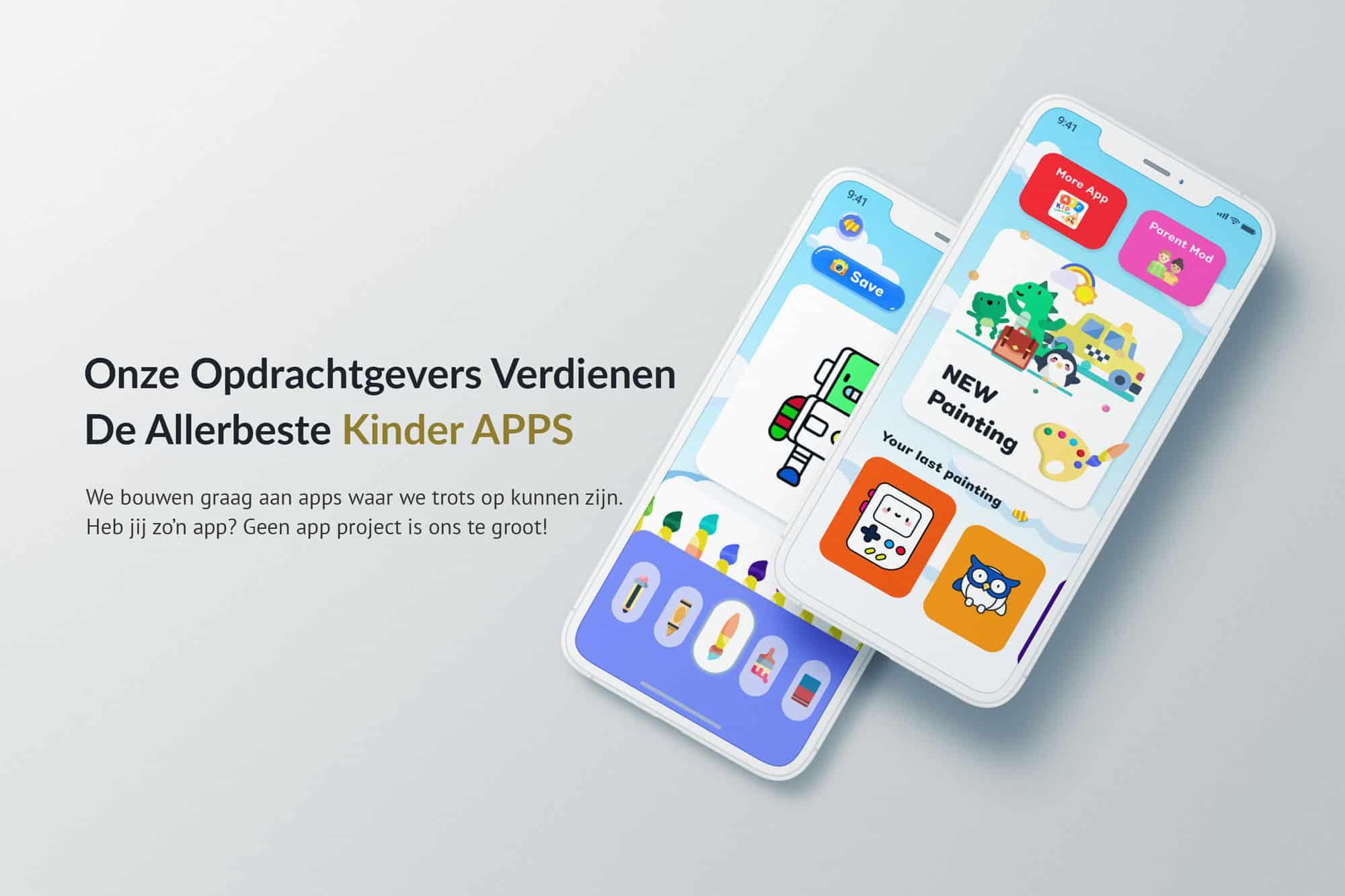 EpicWebsite Kinder app voorbeeld