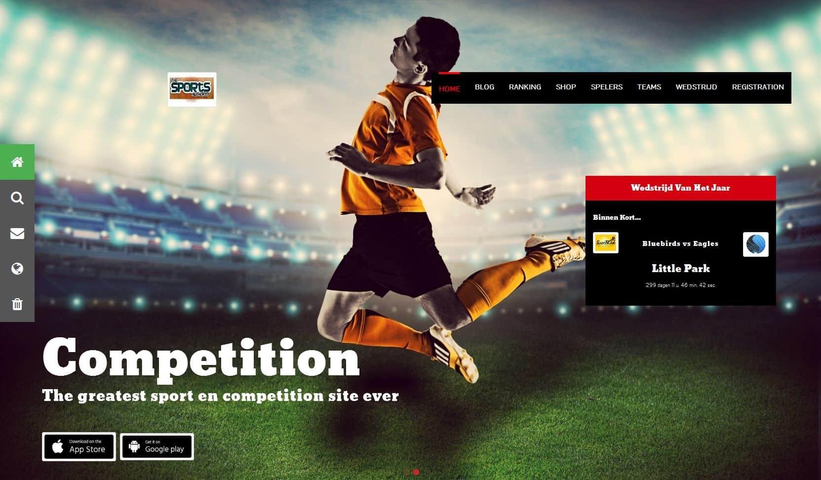 Website laten maken met een wedstrijden systeem
