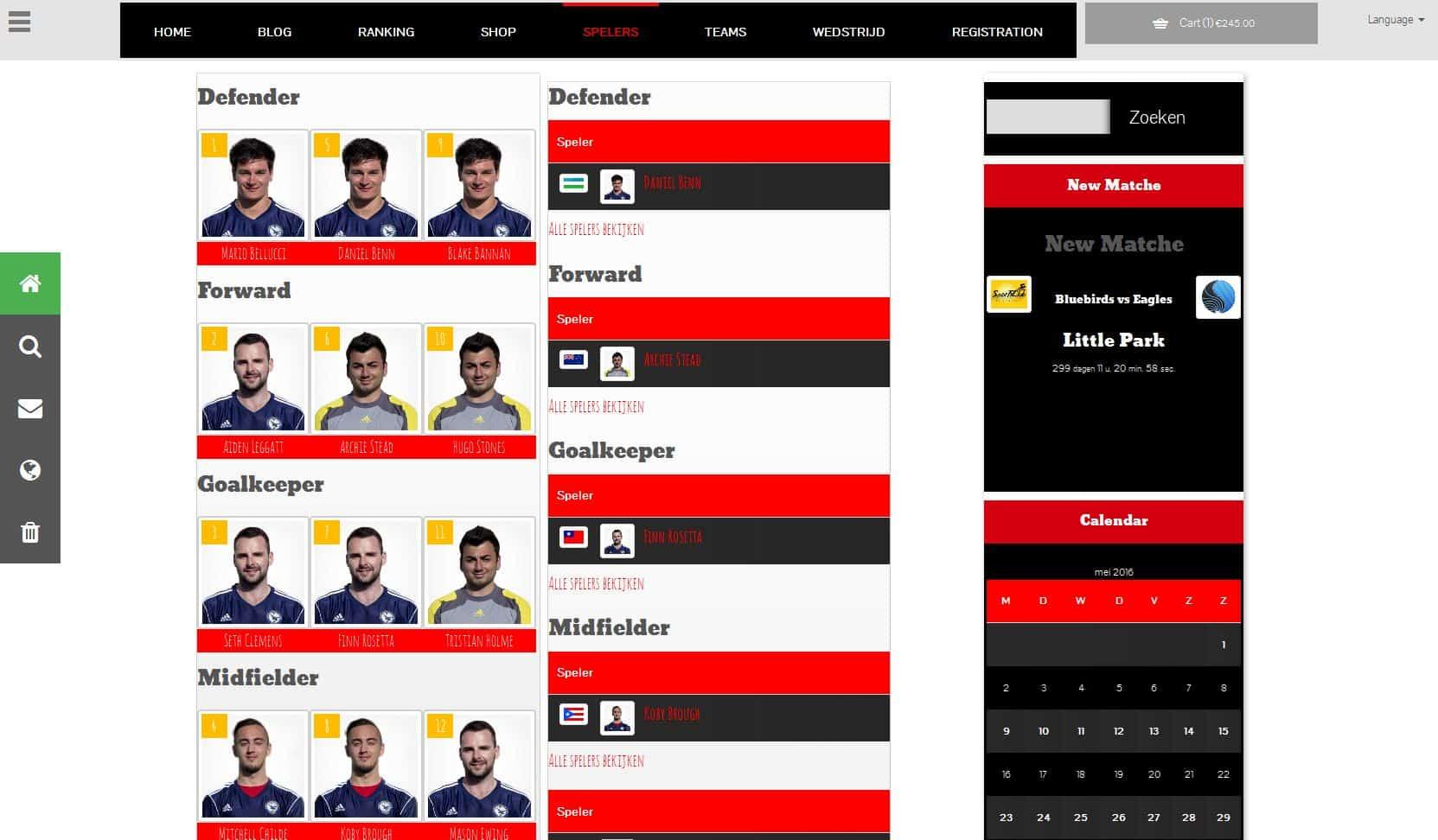 Resultaten & leaderboard website maken