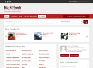 wordpress marktplaatssite home pagina foto