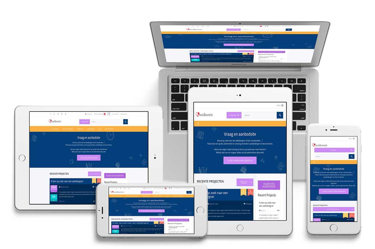 voorbeeld van vraag en aanbod site responsive design