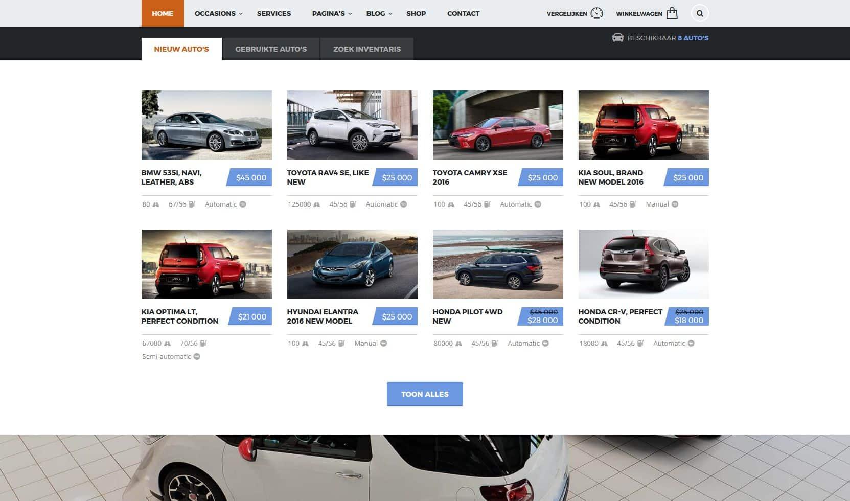 autobedrijf website foto