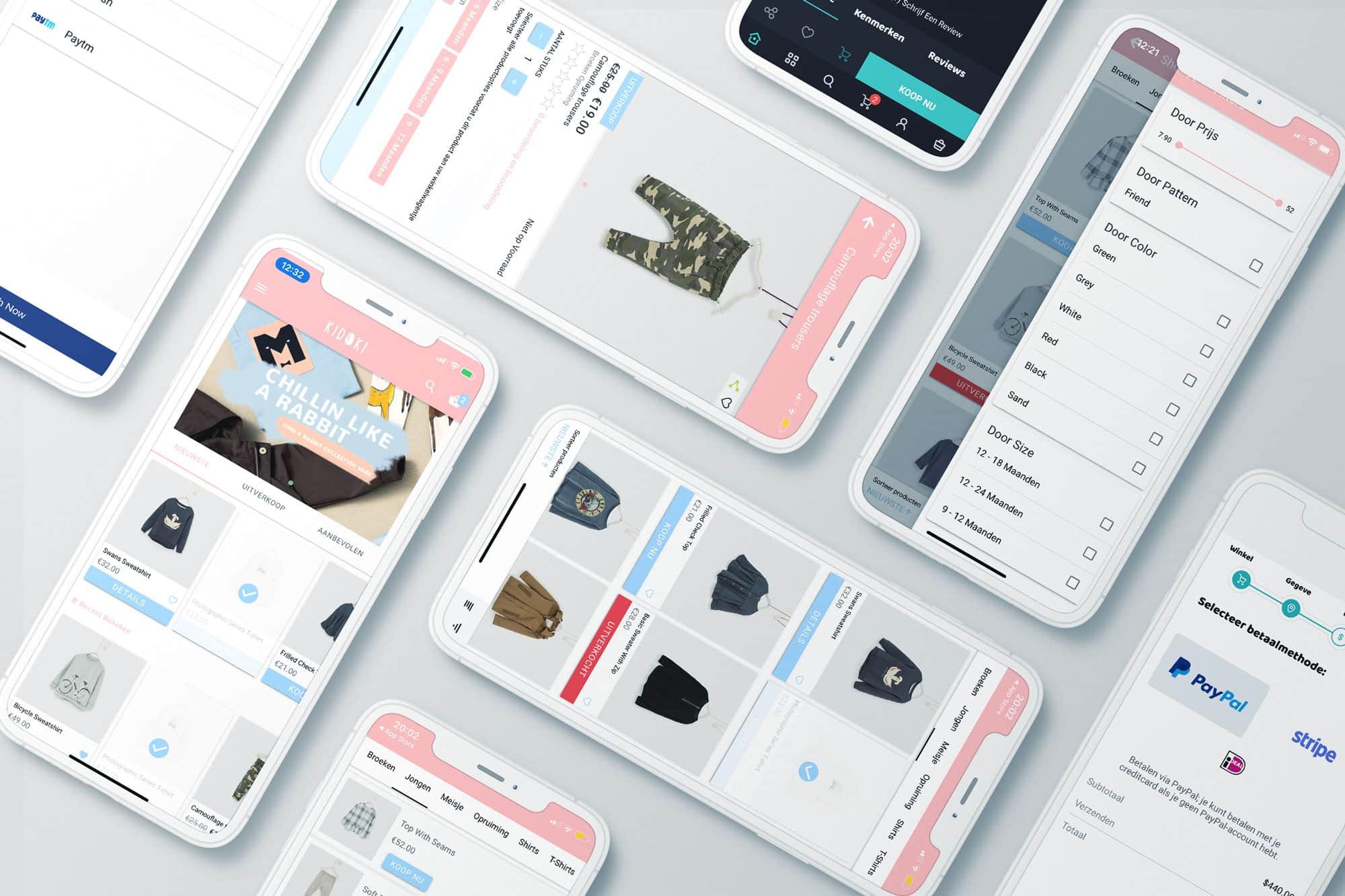 Ionic webshop app laten maken header