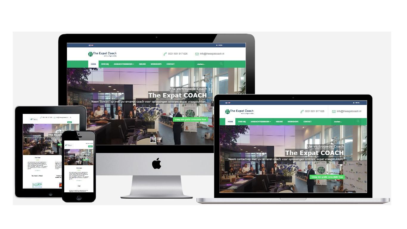 Professionele website maken theexpatcoach.nl