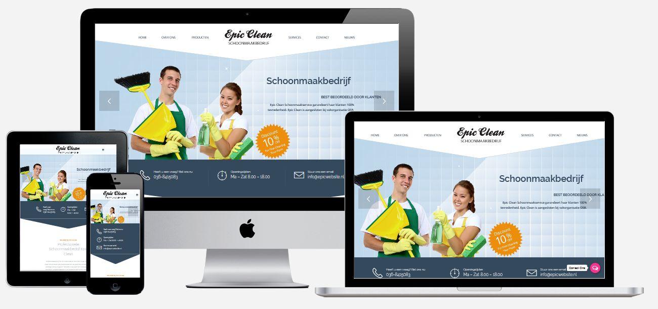 schoonmaakbedrijf website laten maken