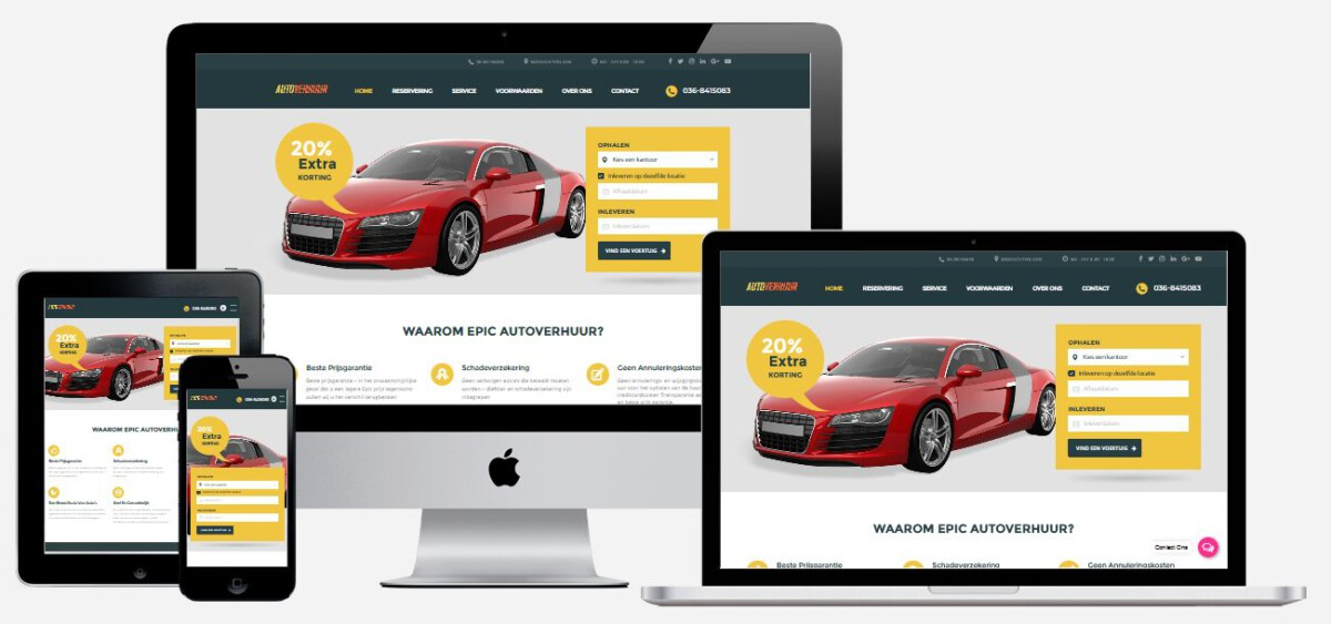 Autoverhuur Website Laten Maken