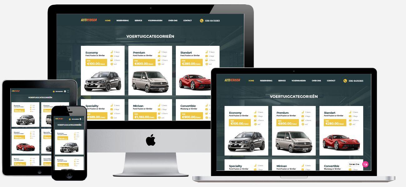 Wordpress website laten maken voorbeeld: Autoverhuur