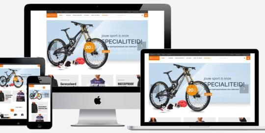 sportshop webshop laten maken