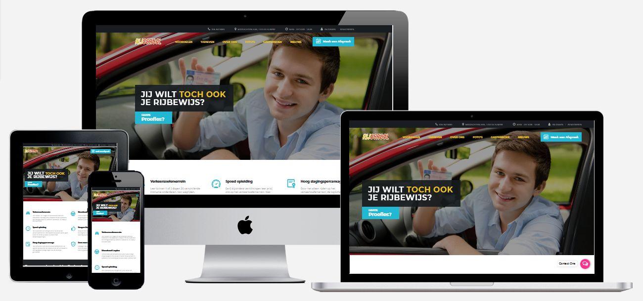 Rijschool website laten maken