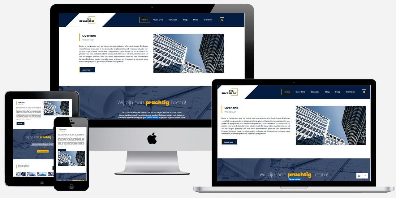 Een aannemer website maken met Epicwebsite
