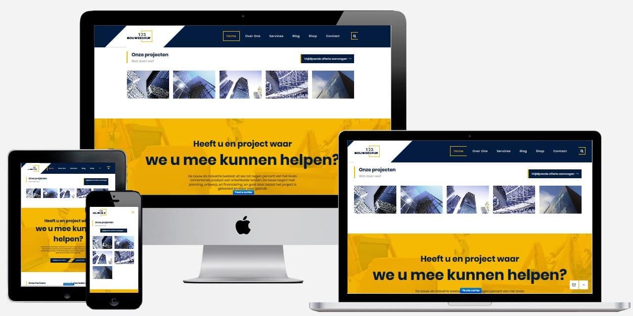 Wordpress Website die we ontworpen hebben voor Bouwbedrijf123