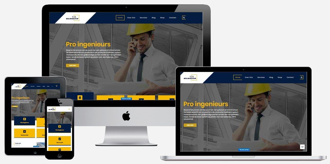 Website maken bouwbedrijf