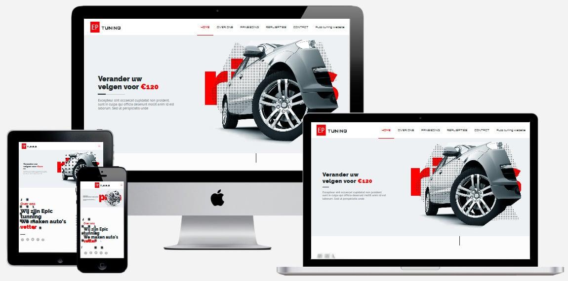 auto tuning-website laten maken