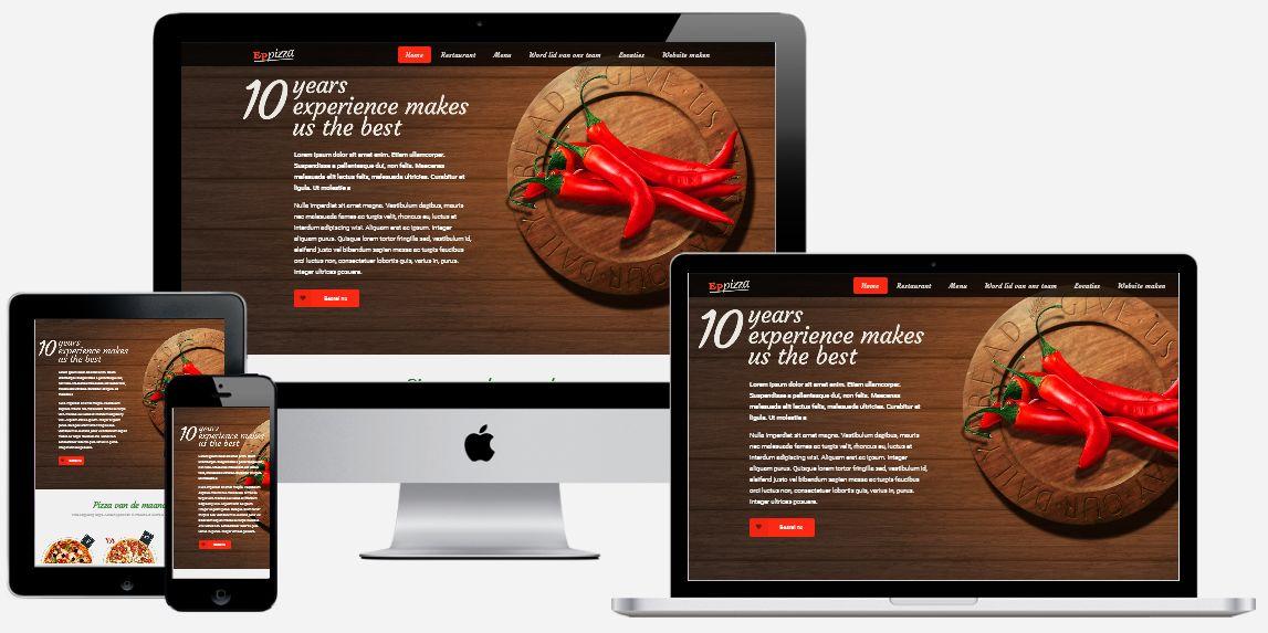 Een pizzeria website laten maken door een ervaren team