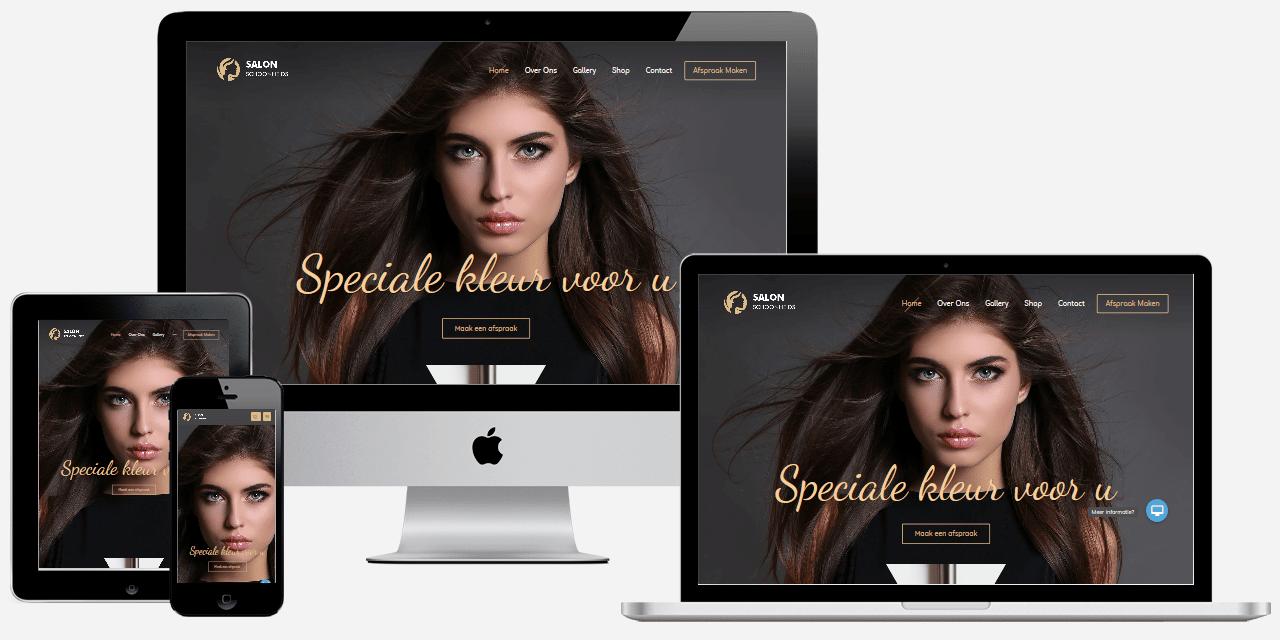 schoonheidssalon website maken