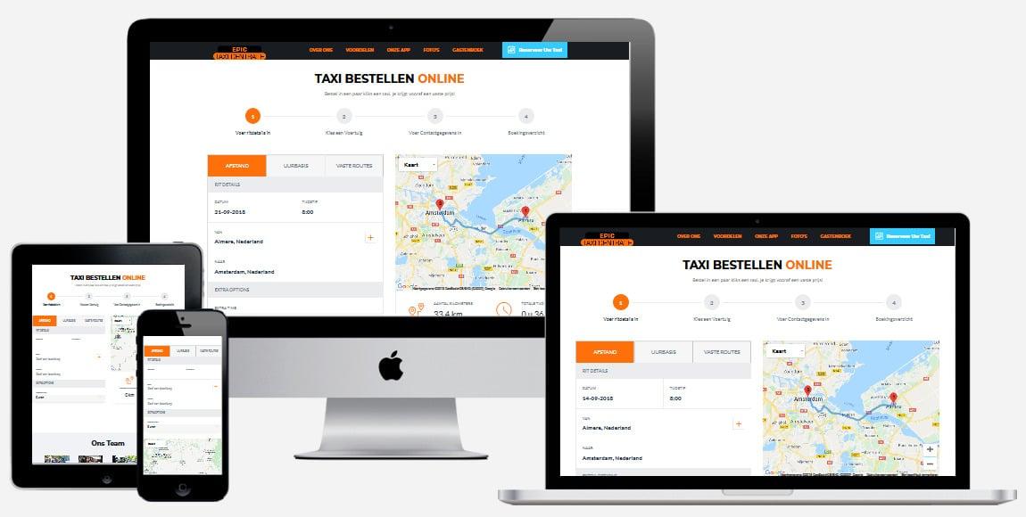 Een taxi website laten maken