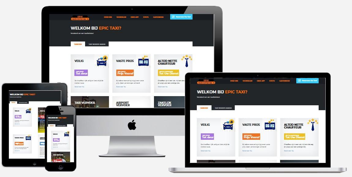 Een taxi website laten bouwen