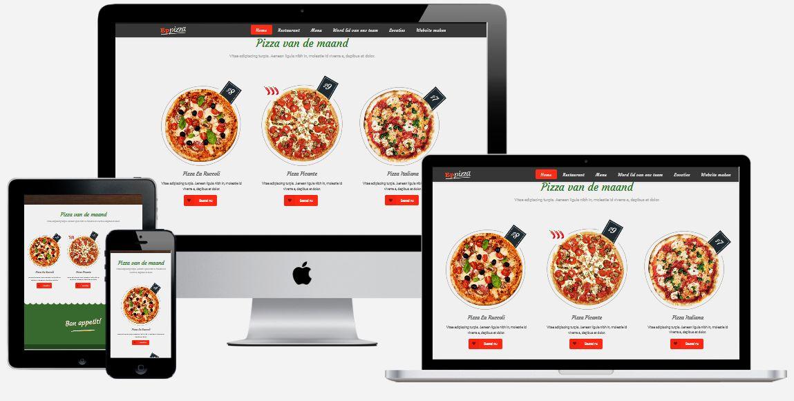 wordpress pizzeria website laten maken