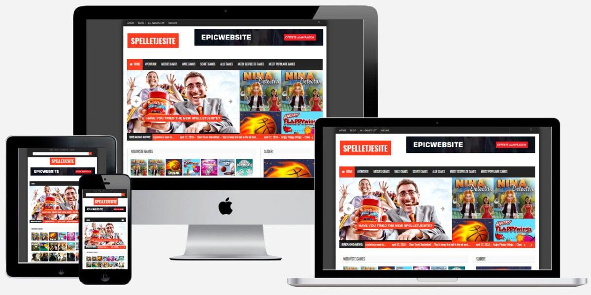 WordPress website voor online games