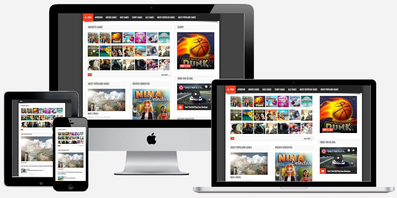 WordPress website voor online games