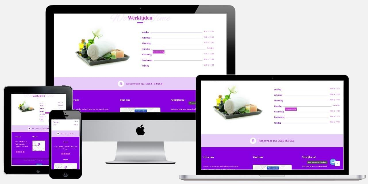 Een massage website laten maken door Epicwebsite