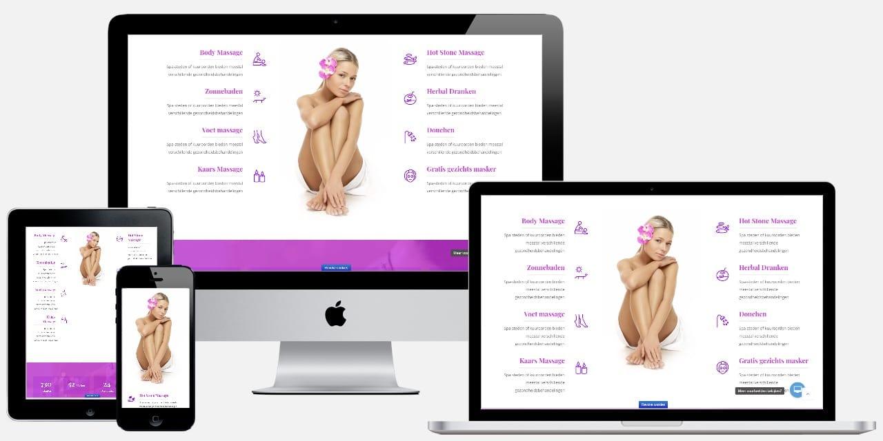 Wordpress website laten maken voorbeeld : massagesalon