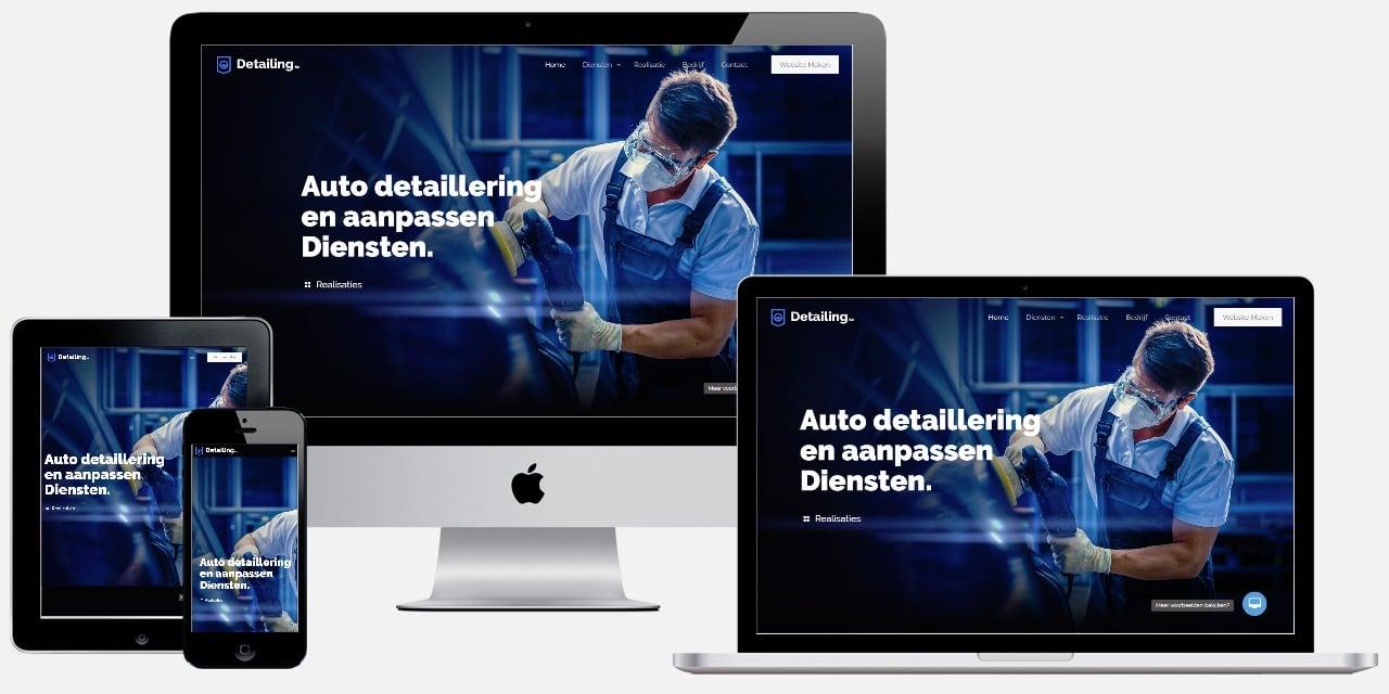 detailing carwash website maken