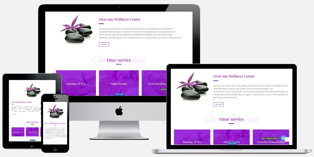 de mogelijkheden voor je website voor een massagesalon
