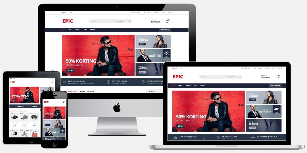 Professionele kleding webwinkel laten maken
