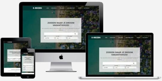 Vakantiehuis verhuur website laten maken
