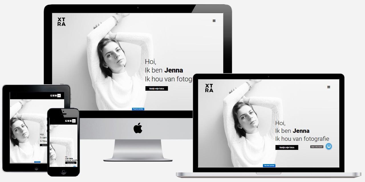 Website voor fotografen en kunstenaars laten maken