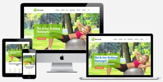 voorbeeld website professionele website laten maken voor health coach