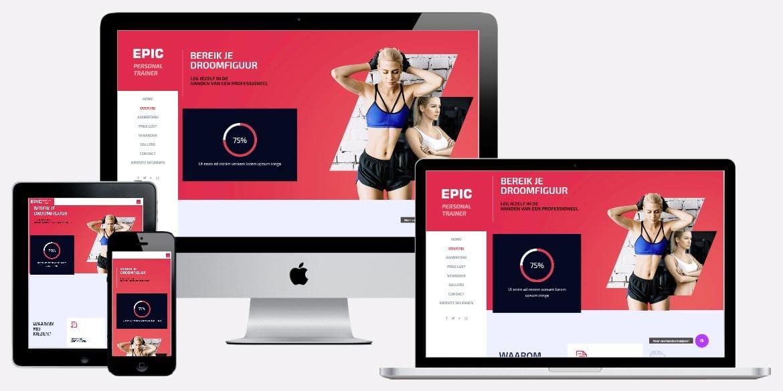 website laten maken over u als personal trainer