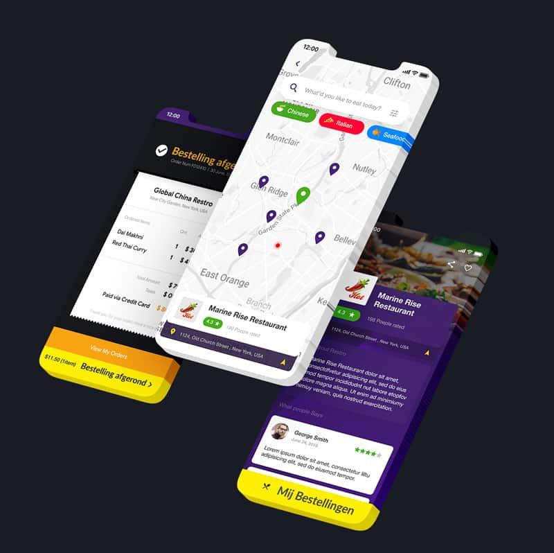 Bezorg App Ontwikkelaar voorbeeld foto