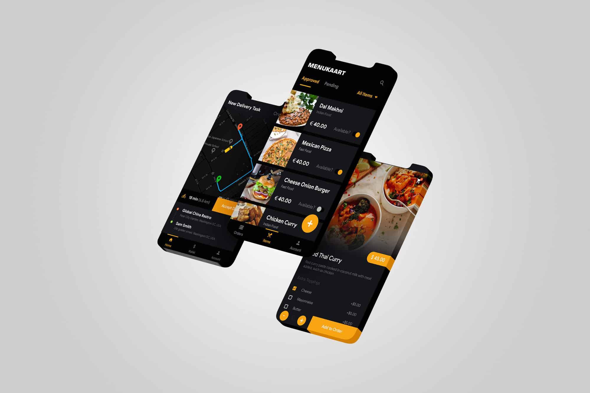 Horeca app voorbeeld van epicwebsite